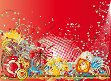 Abstracte achtergrond met harten vector illustratie