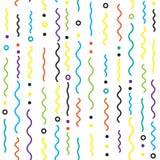 Abstracte achtergrond met het dalende patroon van lijnconfettien, vector Stock Foto
