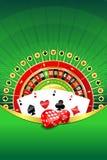 Abstracte achtergrond met het gokken elementen Stock Afbeelding
