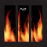 Abstracte achtergrond met het kader van brandvlammen en exemplaarruimte voor te stock illustratie