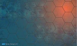 Abstracte achtergrond met hexagon elementen Royalty-vrije Illustratie