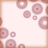 Abstracte achtergrond met hoekig bloemen uitstekend kader, banner, uitnodigingskaart, malplaatje voor ontwerp Vector Royalty-vrije Stock Fotografie