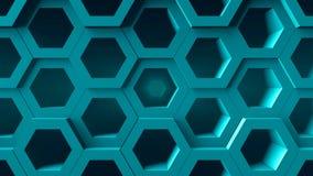 Abstracte achtergrond met honingraat digitale achtergrond Royalty-vrije Stock Foto