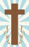 Abstracte achtergrond met houten kruis Royalty-vrije Stock Afbeelding