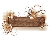 Abstracte achtergrond met houten textuur vector illustratie