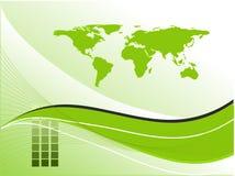 Abstracte achtergrond met kaart Royalty-vrije Stock Fotografie