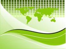 Abstracte achtergrond met kaart Stock Afbeelding