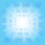 Abstracte achtergrond met kaderpijl en blauwe kleurentoon Royalty-vrije Stock Afbeeldingen