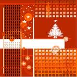 Abstracte achtergrond, met Kerstmisboom royalty-vrije illustratie