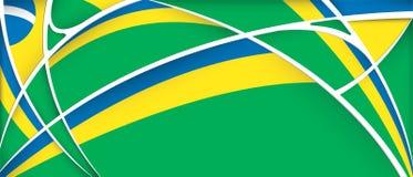 Abstracte achtergrond met kleuren van de vlag van Brazilië royalty-vrije illustratie