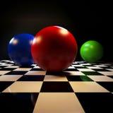 Abstracte achtergrond met kleurrijke ballen Stock Afbeeldingen