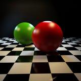 Abstracte achtergrond met kleurrijke ballen Stock Foto's