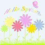 Abstracte achtergrond met kleurrijke bloemen Stock Illustratie