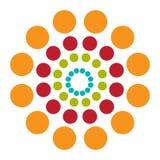 Abstracte achtergrond met kleurrijke cirkelshypnose Vector royalty-vrije illustratie