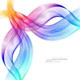 Abstracte achtergrond met kleurrijke golven Vector Elegant golvend ontwerp Royalty-vrije Stock Foto's
