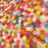 Abstracte achtergrond met kleurrijke hexuitdraaiveelhoeken Royalty-vrije Stock Afbeeldingen