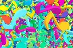 Abstracte Achtergrond met Kleurrijke Muzieknota's royalty-vrije illustratie