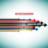 Abstracte achtergrond met kleurrijke pijlen Stock Illustratie