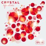 Abstracte achtergrond met kristal shperes Stock Fotografie