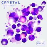 Abstracte achtergrond met kristal shperes Royalty-vrije Stock Foto