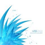 Abstracte achtergrond met kristalvirus Royalty-vrije Stock Foto's