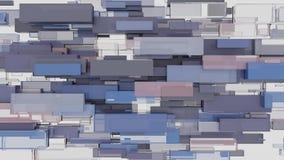 Abstracte achtergrond met kubussen stock videobeelden