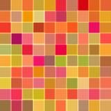 Abstracte achtergrond met kubussen van rode kleur rooster Stock Foto's