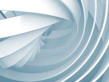 Abstracte achtergrond met lichtblauwe 3d spiraalvormige structuren Stock Afbeelding