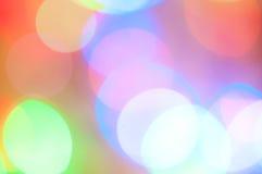 Abstracte achtergrond met lichte cirkels Royalty-vrije Stock Afbeeldingen