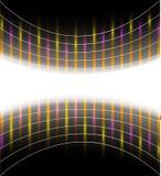 Abstracte achtergrond met lichtgevende strepen Stock Foto