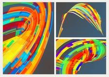Abstracte achtergrond met lijnen Stock Afbeelding