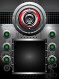 Abstracte achtergrond met luidspreker Stock Foto