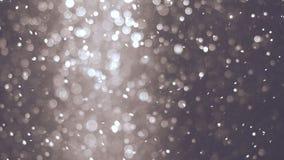 Abstracte achtergrond met mooie trillende deeltjes Onderwaterbellen in stroom met bokeh Royalty-vrije Stock Foto