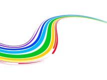 Abstracte achtergrond met multicolored gebogen lijnen Stock Foto