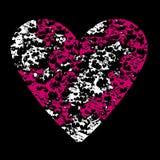 Abstracte achtergrond met muzieknota's en een vorm van een hart vector illustratie