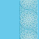 Abstracte achtergrond met oostelijk bloemenpatroon Stock Afbeelding