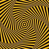 Abstracte achtergrond met optische illusieeffect. Royalty-vrije Stock Afbeelding