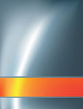 Abstracte achtergrond met oranje staaf Stock Fotografie