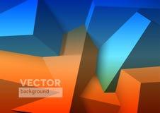 Abstracte achtergrond met overlappend blauw en Royalty-vrije Stock Afbeeldingen