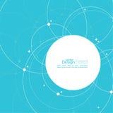 Abstracte achtergrond met overlappende cirkels Stock Afbeeldingen
