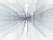 Abstracte achtergrond met perspectief - digitaal geproduceerd beeld stock illustratie