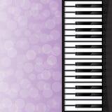 Abstracte achtergrond met pianosleutels Royalty-vrije Stock Afbeelding