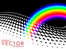 Abstracte achtergrond met regenboog Stock Afbeelding