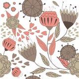 Abstracte achtergrond met rode bloemen Royalty-vrije Stock Afbeelding