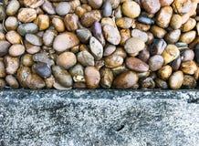 Abstracte achtergrond met ronde kiezelsteenstenen Royalty-vrije Stock Afbeeldingen