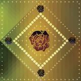 Abstracte achtergrond met rozenornament en sterren Stock Foto