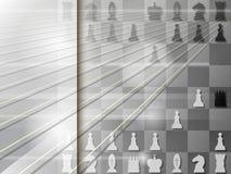 Abstracte achtergrond met schaakbord checkmate Vector royalty-vrije illustratie