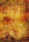 Abstracte achtergrond met silhouet van Slangsymbool royalty-vrije illustratie