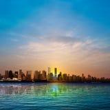 Abstracte achtergrond met silhouet van Vancouver Royalty-vrije Stock Foto's