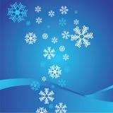 Abstracte achtergrond met sneeuwvlokken Stock Afbeelding